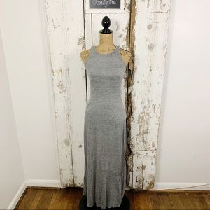 AG silk/viscose grey maxi dress
